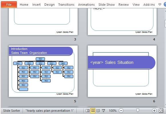 yearly sales plan templates for powerpoint, Modern powerpoint