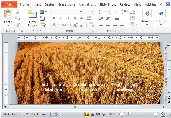 Widescreen Animated Template for PowerPoint 2013