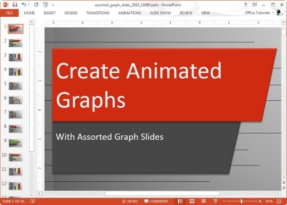 assorted graph slides template for powerpoint