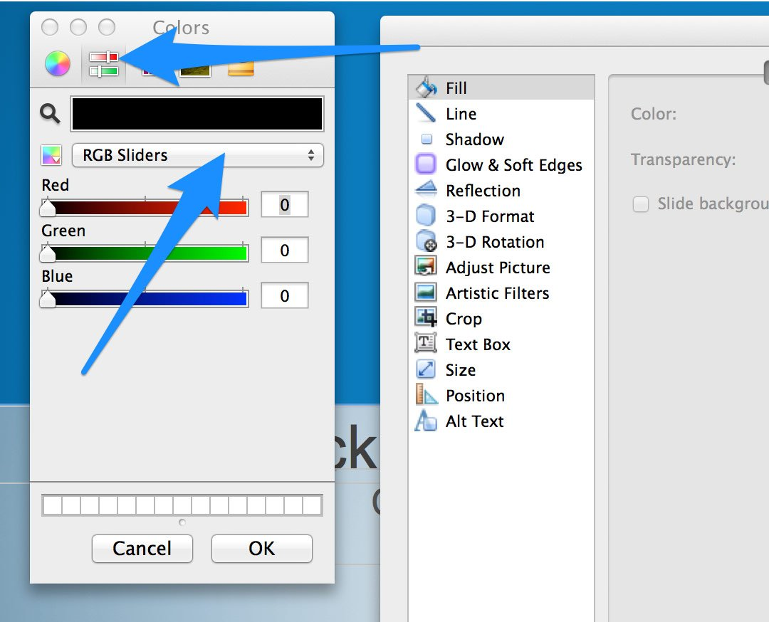 How to set rgb colors in powerpoint for Setting up a powerpoint template