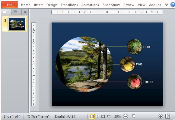 Smartart photo diagram maker template for powerpoint beautiful smartart graphic with callout text and magnified images ccuart Image collections