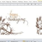 Beautifully Designed Thanksgiving Template