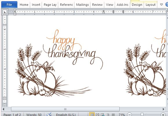 Best thanksgiving templates for microsoft word beautifully designed thanksgiving template stopboris Gallery