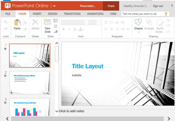 Contrast Widescreen Template For Powerpoint Online