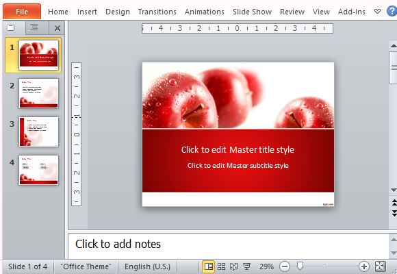 Captivate Your Aunce With This Rich Juicy Red Le Presentation Template