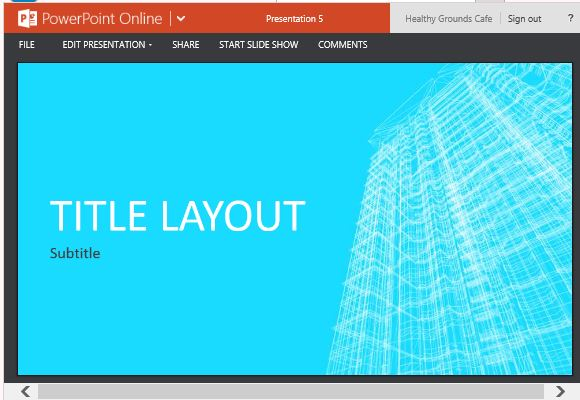 Business Wireframe Building Template For PowerPoint Online