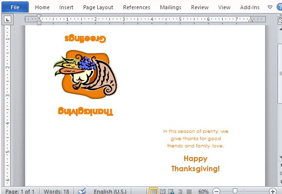 Best thanksgiving templates for microsoft word charming thanksgiving card for your loved ones maxwellsz