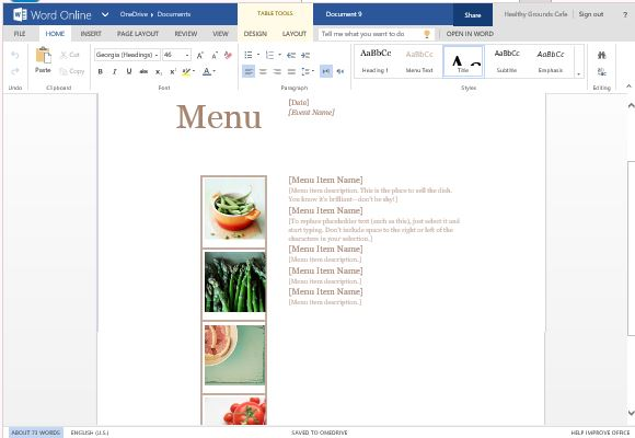 best menu maker templates for word, Powerpoint templates