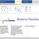 Clean and Professional Design of a Business Project Timeline