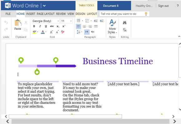 Business project timeline template for word online clean and professional design of a business project timeline maxwellsz