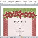 Elegantly Festive Holiday-Themed Menu Template