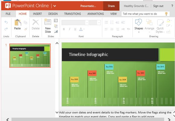 Flags infographic timeline template for powerpoint online for Sports infographics templates