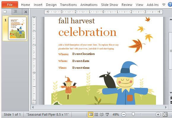 How To Create Seasonal Event Celebration Invitations In Powerpoint
