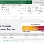Health Excel Template for Monitoring Blood Pressure and Glucose Levels