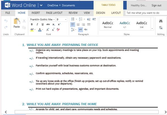 Business trip checklist maker for microsoft word make sure you never leave anything behind on your trip wajeb Gallery
