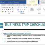 Professionally Designed and Functional Business Trip Checklist