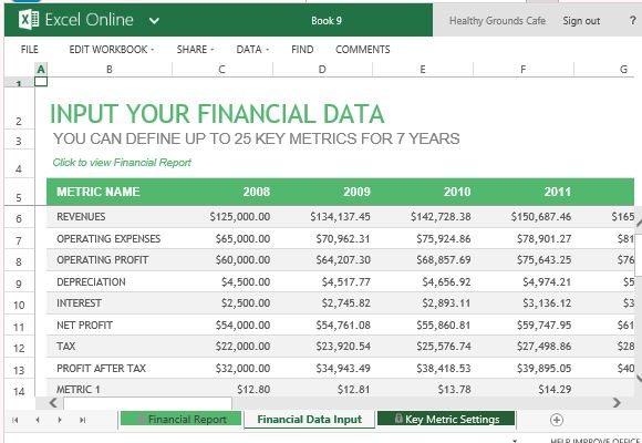 Financial Report Template For Excel Online