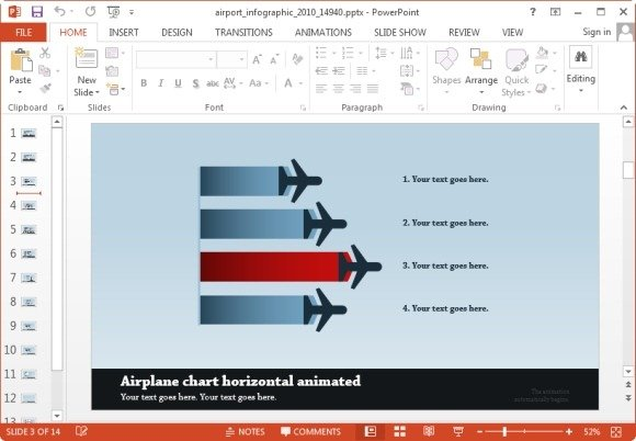 Animated airport powerpoint templates airplane infographic slide toneelgroepblik Choice Image
