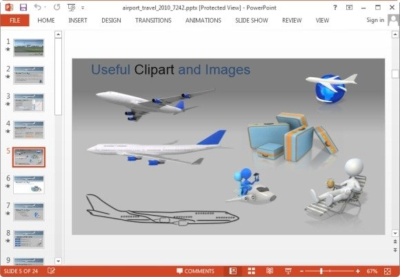 Animated airport powerpoint templates airport clipart toneelgroepblik Gallery