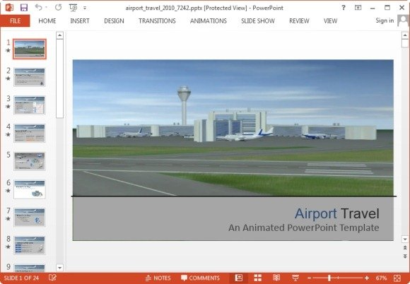 Animated airport powerpoint templates airport travel powerpoint template toneelgroepblik Choice Image