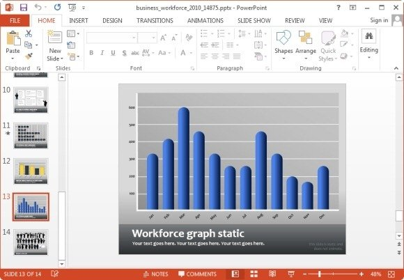 bar chart for workforce template