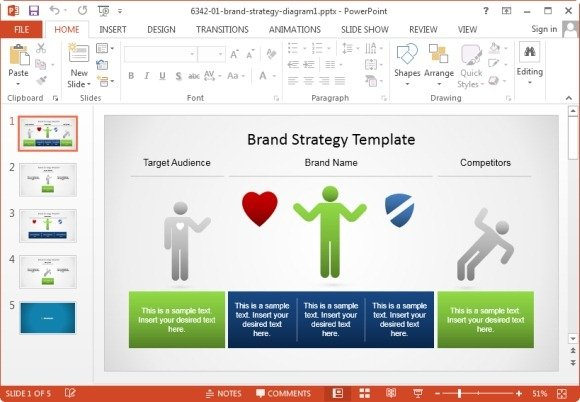 brand strategy template for powerpoint