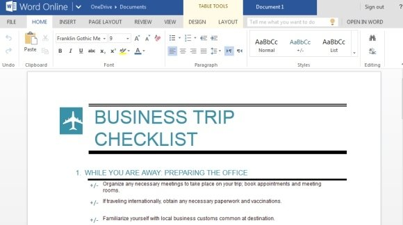 Business Trip Checklist Maker For Word Online  Microsoft Word Template Checklist