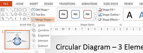 How to Combine Shapes (Union, Intersect, Subtract) in PowerPoint 2013