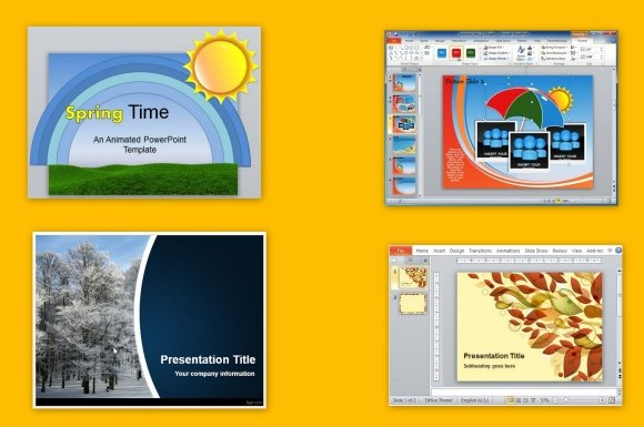 create seasonal invitations in powerpoint