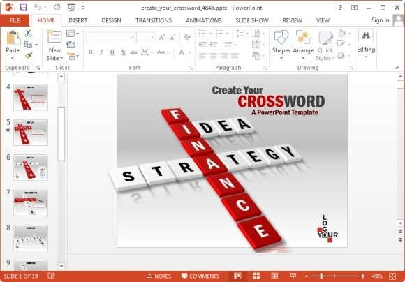 create your crossword powerpoint template