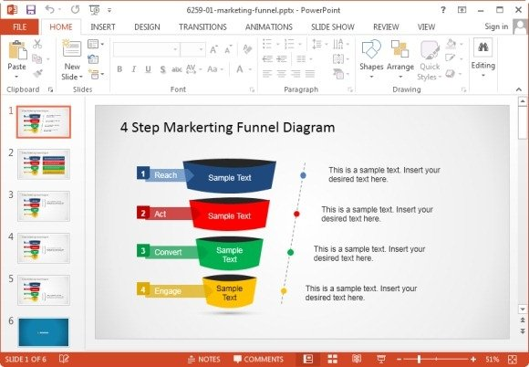 funnel diagram template for marketing
