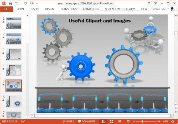 Animated team turning gears powerpoint template gear clipart images toneelgroepblik Choice Image