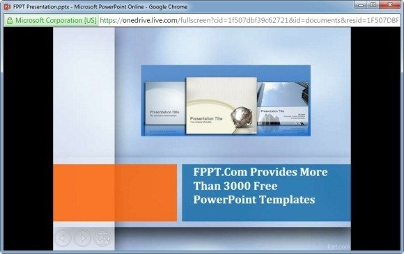 powerpoint online slide show mode