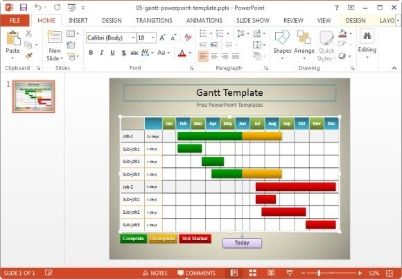 10 best gantt chart tools templates for project management simple gantt chart template for powerpoint ccuart Image collections