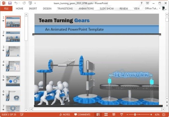 Animated team turning gears powerpoint template team turning gears powerpoint template toneelgroepblik Gallery