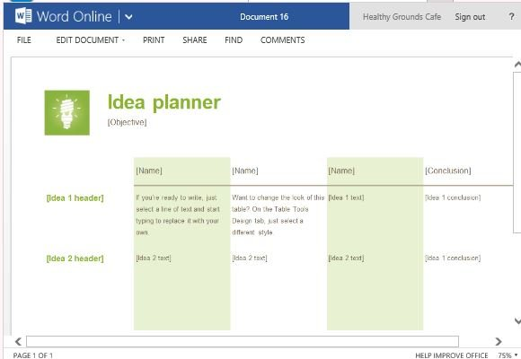 Add as Many Rows as You Want for Your Own Brainstorming Activity