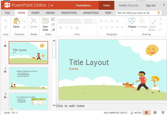 children playing educational template for powerpoint online, Presentation templates