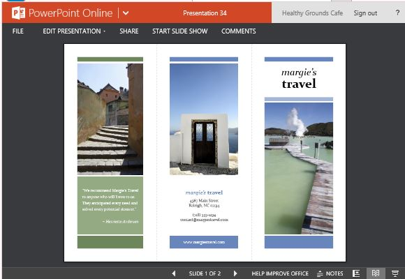 Brochure Maker Templates For PowerPoint - Traveling brochure templates
