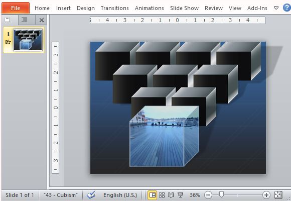 How To Create An Animated Picture Cube In Powerpoint