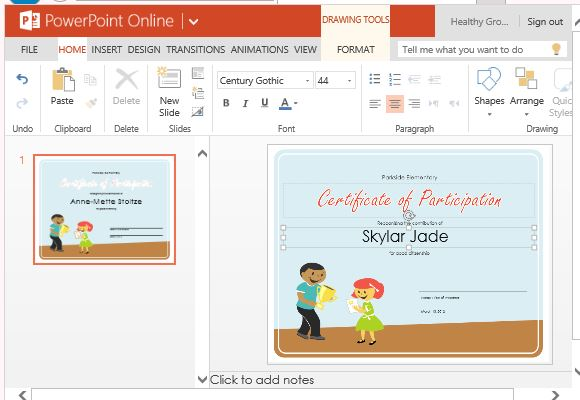 Customize the Certificate for Your Own Activities and Awards