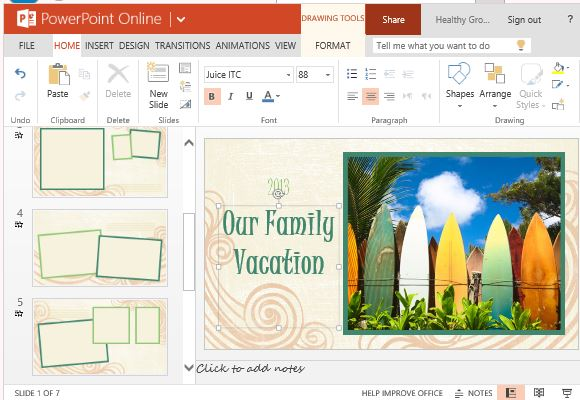 Customize the Template for Your Own Vacation and Summer Time