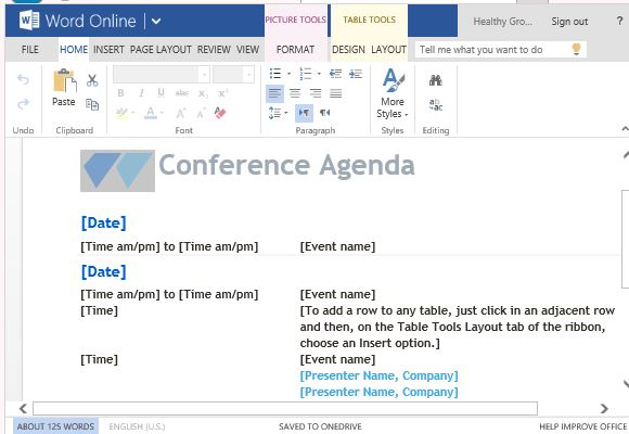 Have An Elegant And Sophisticated Conference Agenda In Minutes