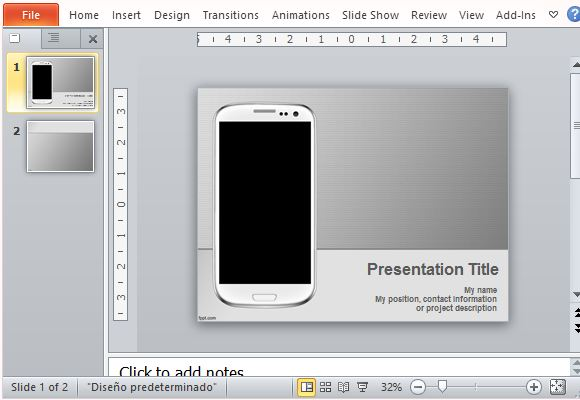 Mobile Themed PowerPoint Template