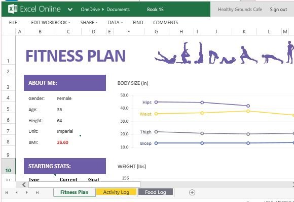 How To Create And Track Your Fitness Plan With Excel Online
