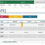 Standard Yet Versatile Template for College Schedule Tracking