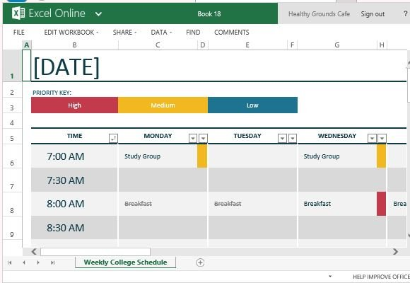 How to easily create class schedules using excel for Pros and cons matrix template