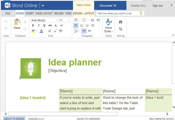 Stylish and Interesting Idea Planner Template for Brainstorming