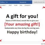 Surprise Friends Family and Customers with Gift Certificates