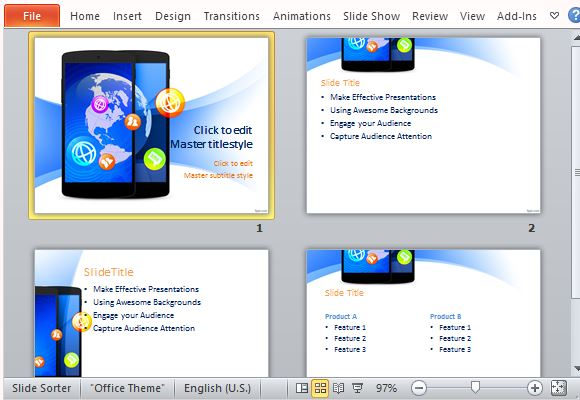 Various Layouts for Technology PowerPoint Presentations