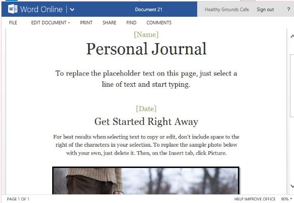 microsoft word journal template